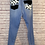 Thumbnail: Cow Print Frayed Jeans