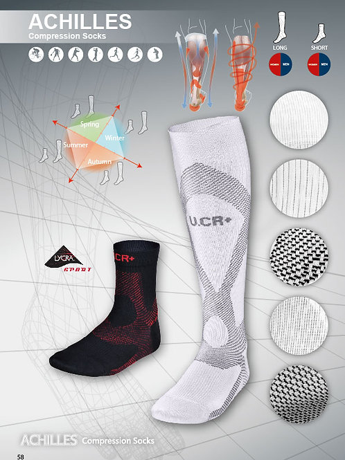 U.CR+ ACHI -short compression socks summer  阿基里斯機能壓力短襪