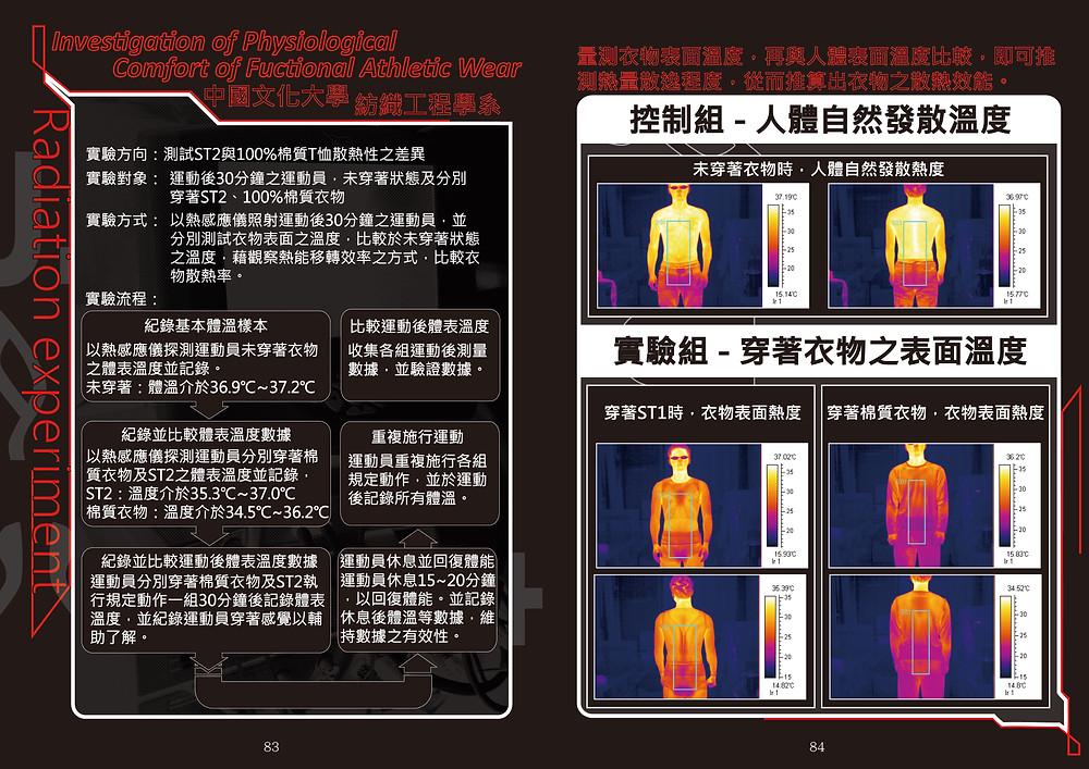 文化大學紡織系 院紅外線熱顯影 對照組
