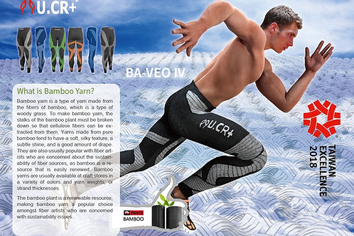 U.CR+ bamboon compression pants 9 points竹炭分段壓力褲 ( 九分墊 ) Taiwan  Excellence
