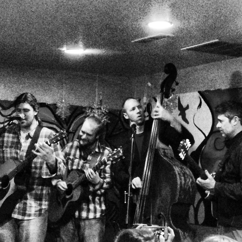 Local musicians jam...