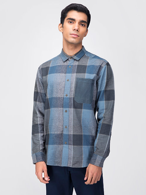 Blue Plaid Shirt