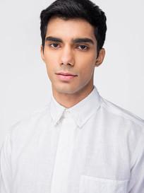 White linen shirt by dhatu