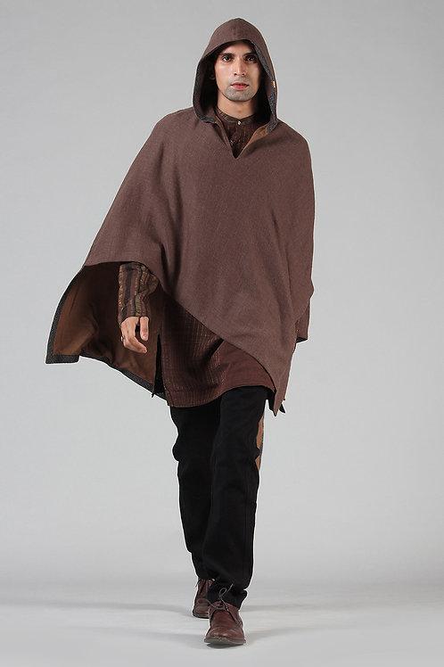 Asymmetric Woollen Poncho