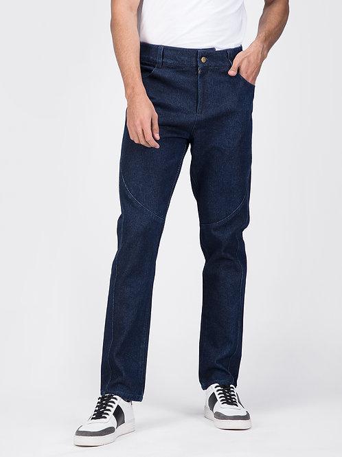 Blue Jodhpur Cotton Jeans