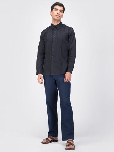 Black mens cotton shirt