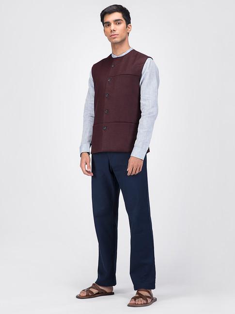 Maroon nehru jacket