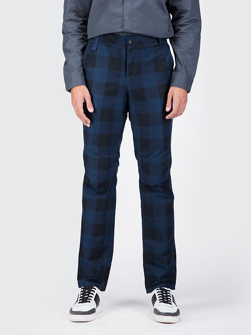 Blue Check Narrow 3D Fit Utility Trouser