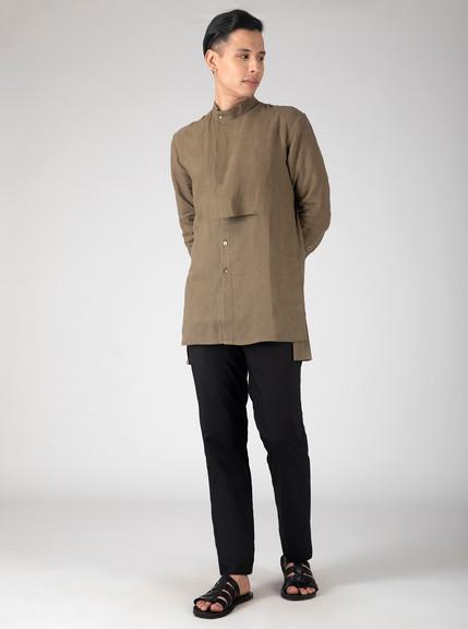 Linen dress shirt for men