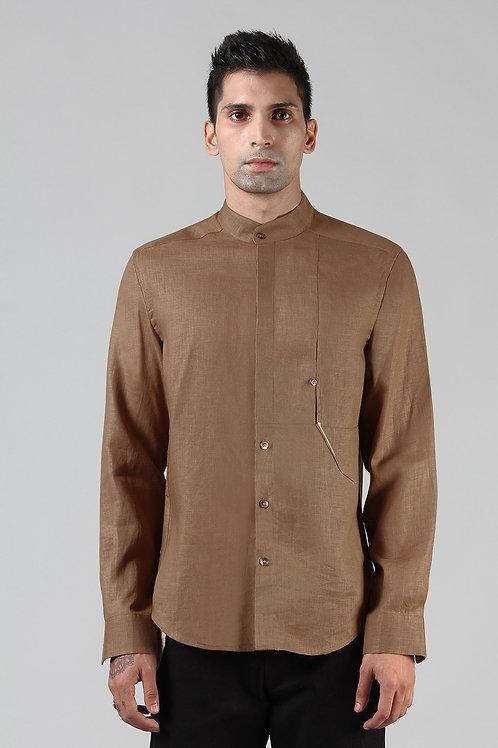 Bronze Anti-Flip Pocket Pieced Shirt | Pure Hemp