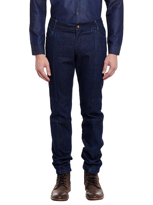Blue Aviator Cotton Jeans
