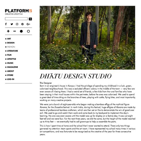 An Exclusive Interview with Platform Magazine
