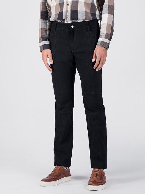 Black Aviator Cotton Jeans