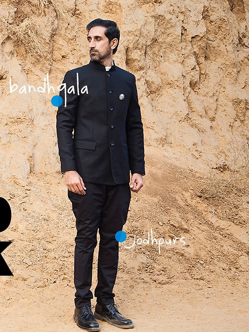 Merino Wool Bandhgala Jacket
