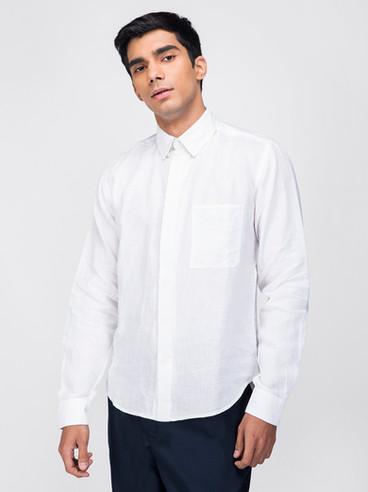 Buy White linen shirt
