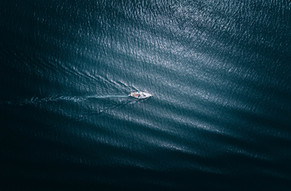 Luftaufnahme Boot