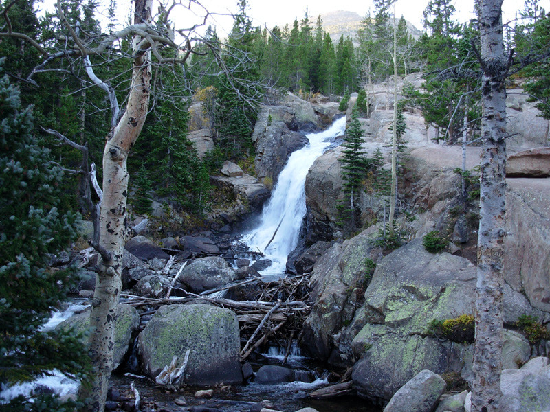 Alberta Falls, Black Lake, Mills Lake, Rocky Mountain National Park, Colorado, Rocky Mountains, Hiking, Backpacking