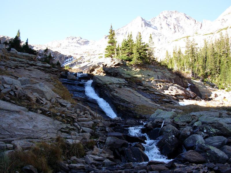 Ribbon Falls,Black Lake, Mills Lake, Rocky Mountain National Park, Colorado, Rocky Mountains, Hiking, Backpacking