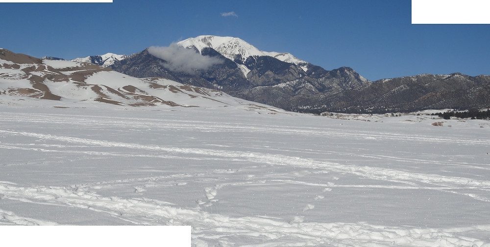 Mt Blanca, Great Sand Dunes National Park, Rocky Mountains, San Luis Valley