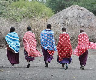 royal women in maasai village tanzania kenya