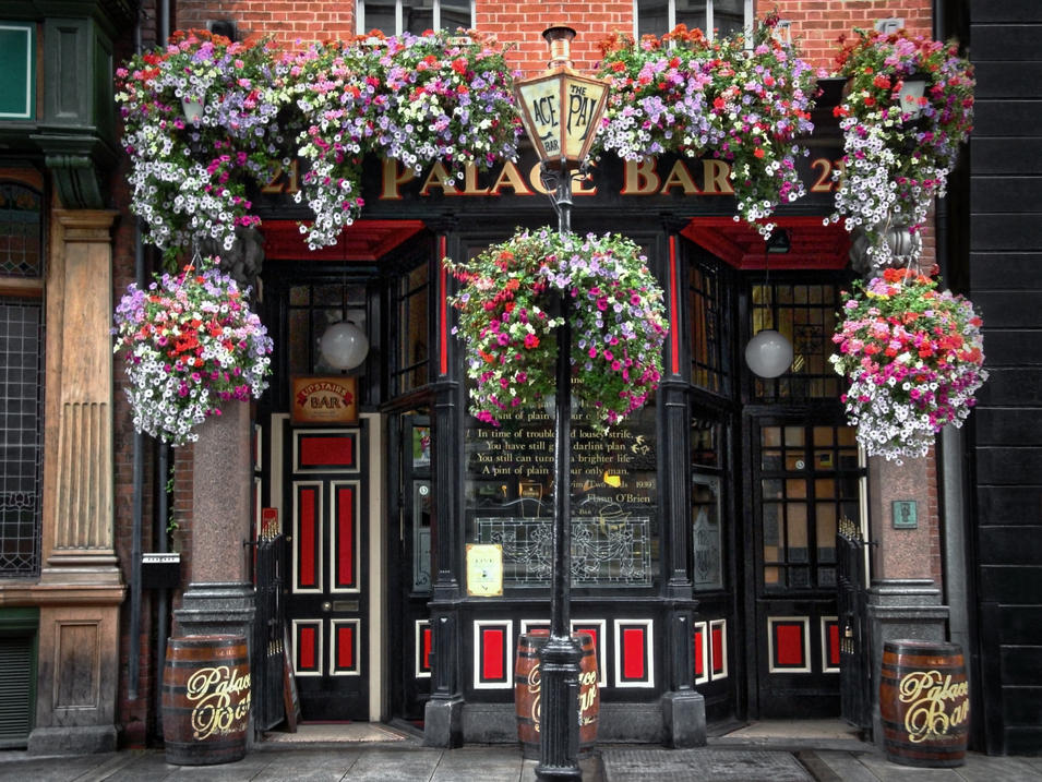 The Palace Bar in Dublin, Ireland