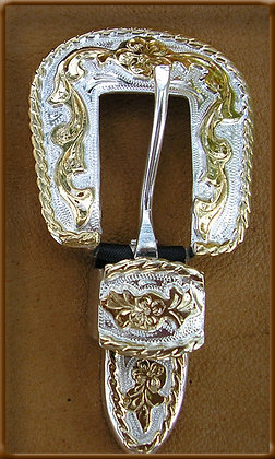 "5/8"" Gold and Silver Buckle Set"