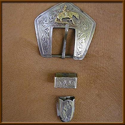 """5/8"""" White Bronze Reiner Buckle Set"""