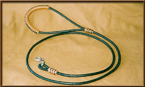 """1/8"""" Braided Kangaroo Lead with Accents (price varies by length)"""