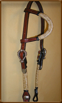 Bridle Leather full Braid  Bosal Buckles Headstall