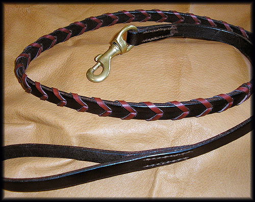 English Bridle Leather Lead Laced 3/4""
