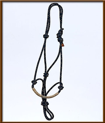 Rope halter  with Rawhide Braided Nose, Horse Size