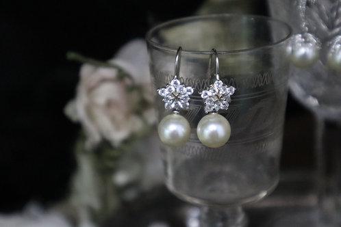 Swarovski crystal pearl 925 silver earrings