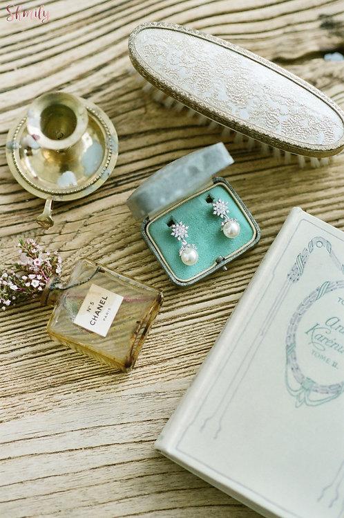 Sparkling Swarovski crystal 925 silver earrings