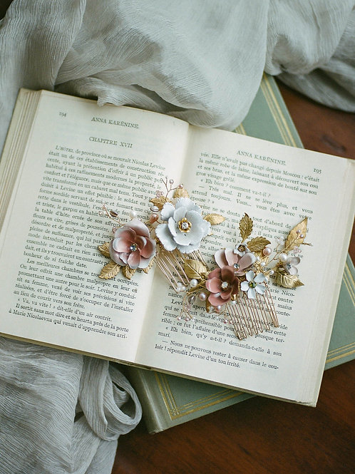Jewellery Making Course- Hand Painted Brass Flower Hair Comb