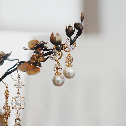 Czech zirconia Swarovski pearl earrings