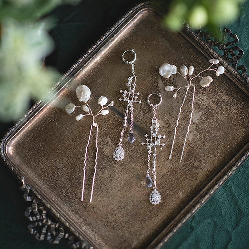 Star in the Sky chandelier earrings