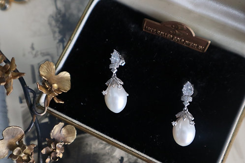 Stylish Fresh Water Pearl with 925 Silver Earrings