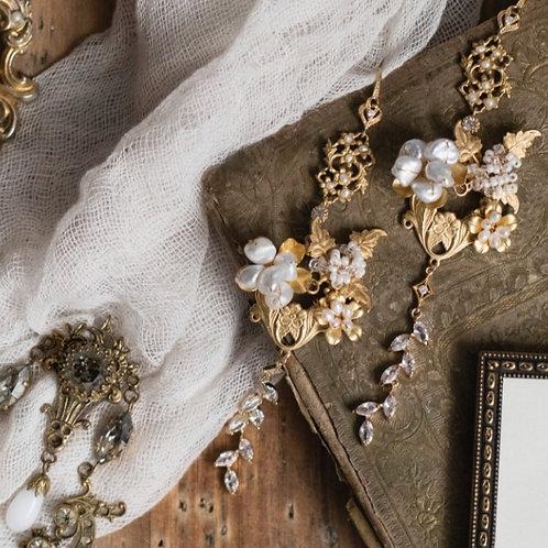 Ornate Victorian Baroque Pearl Earrings