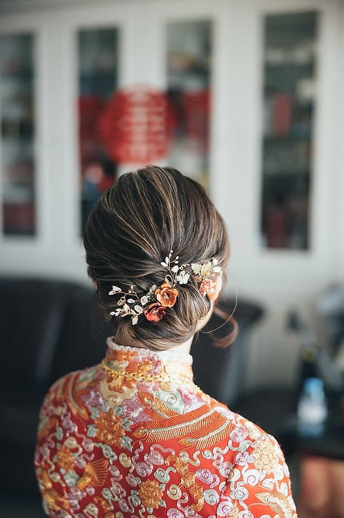 Chinese Red Baroque Pearl Hair Pin