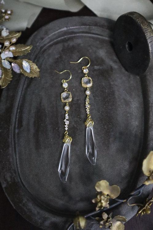 Oh My Godness Swarovski Crystal Pillar Earrings