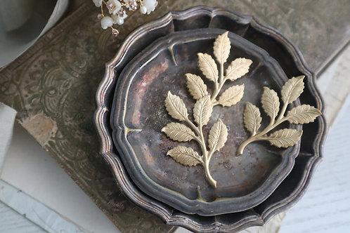 銅制五瓣金葉(一塊)