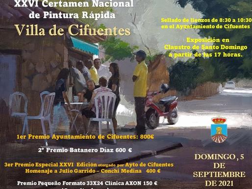 XXVI CERTAMEN NACIONAL DE  PINTURA RÁPIDA VILLA DE CIFUENTES