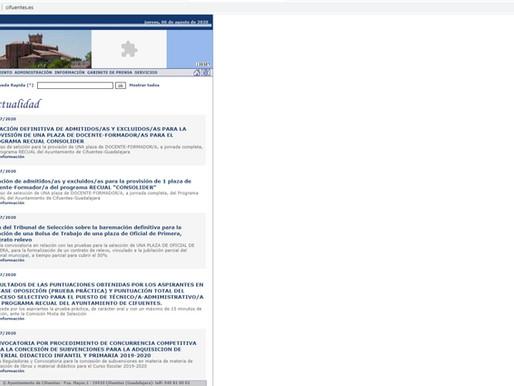 MEJORAMOS LA PÁGINA WEB CIFUENTES.ES