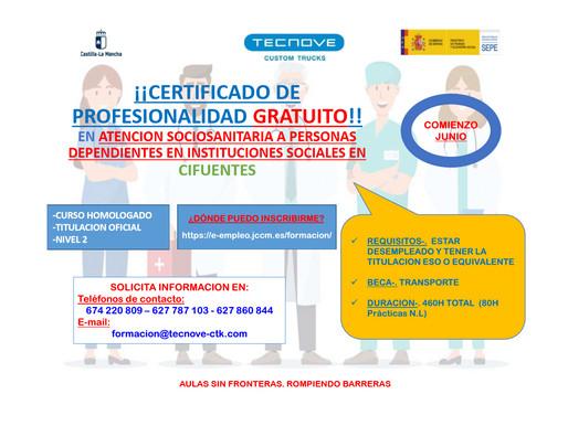 ¡¡CERTIFICADO DE PROFESIONALIDAD GRATUITO!!