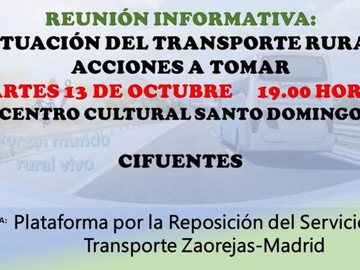 REUNIÓN INFORMATIVA TRANSPORTE ZAOREJAS-MADRID