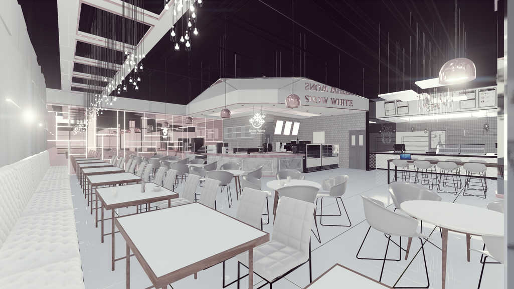 3D Rendering/Snow White Interior Design