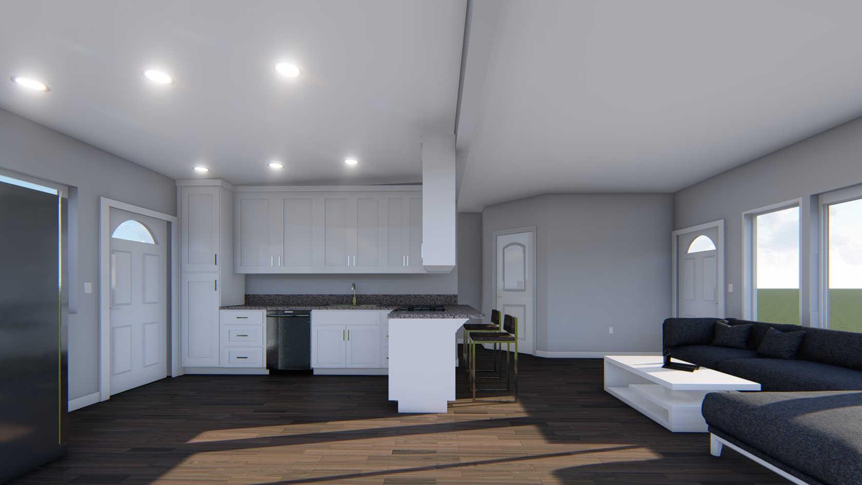 Kitchen&Living Room Design