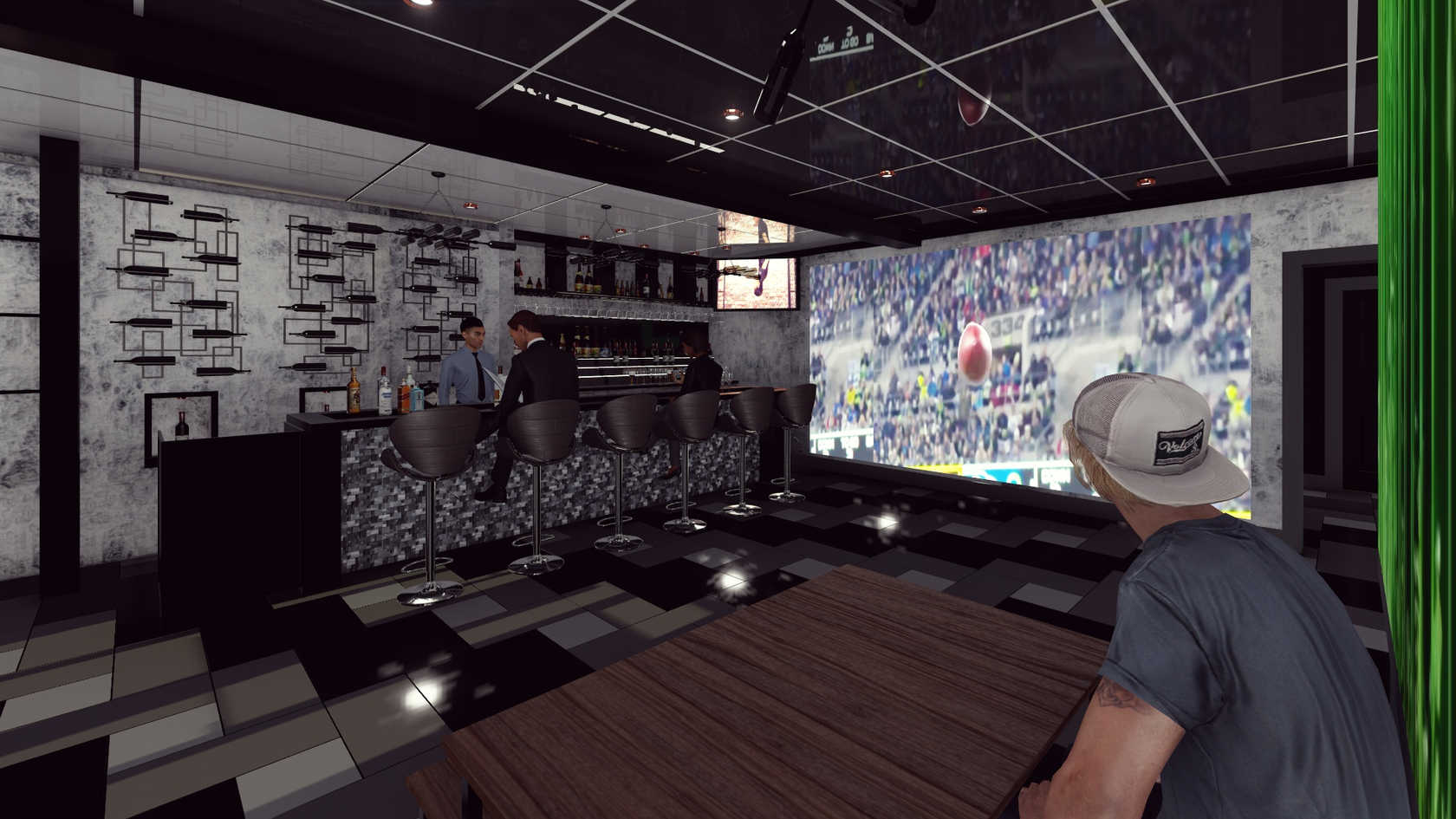 3D Rendering/Bar Area