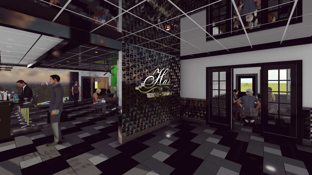 3D Rendering/Entrace Area with VIP room
