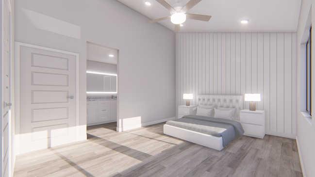 3D Rendering/Master Bedroom